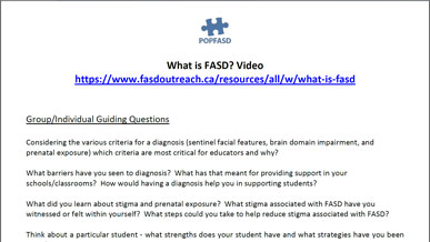 Book and Video Club - What is FASD? Support Staff Version