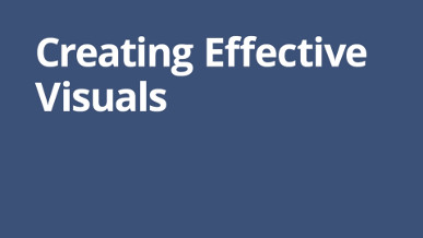 Creating Effective Visuals - Video