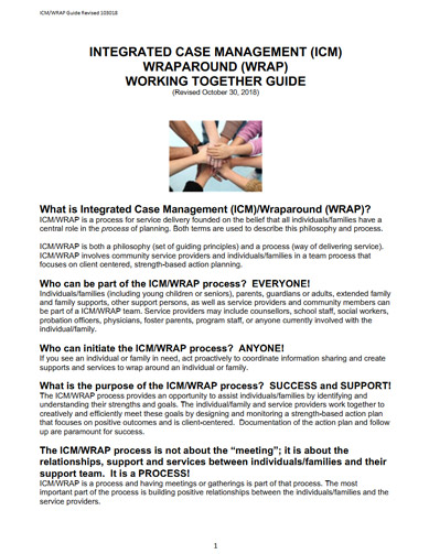 Integrated Case Management (ICM) Wraparound (WRAP) Working Together Guide