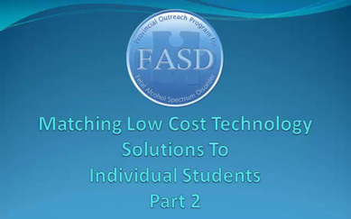 Matching Low Cost Technology to Individual Students (Part 2)