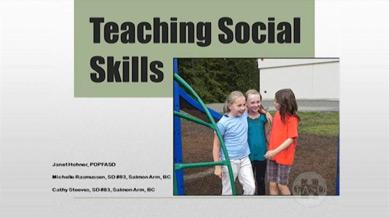 Teaching Social Skills - Elementary