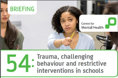 Trauma, challenging behaviour and restrictive interventions in schools