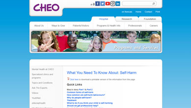 What You Need To Know About: Self-Harm