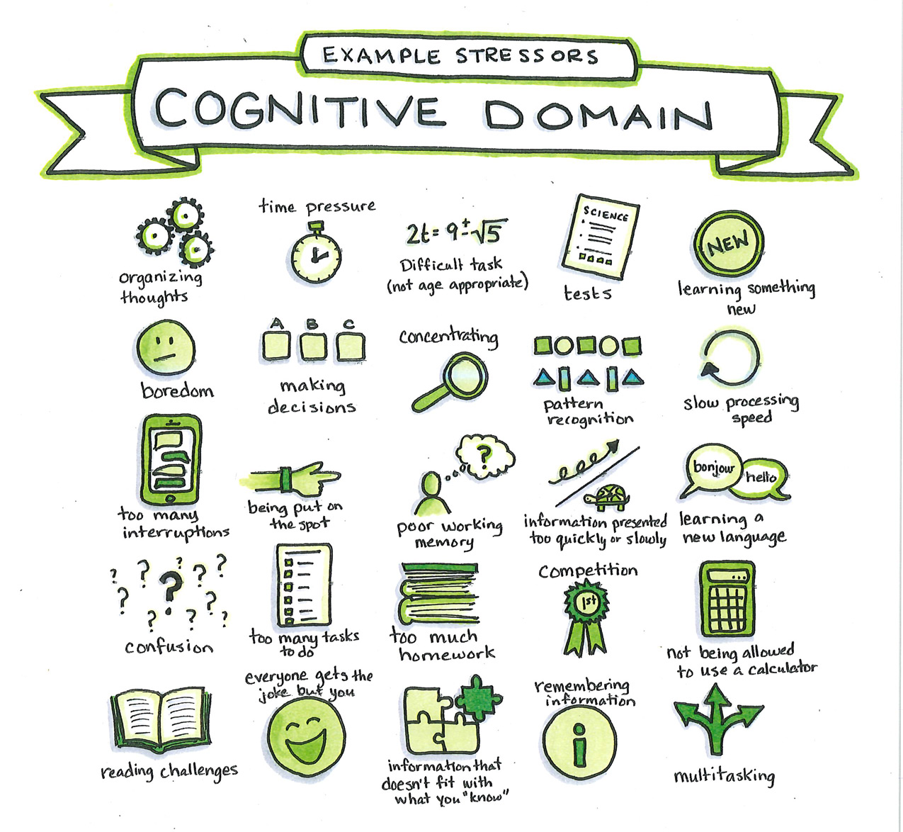 Example Stressors - Cognitive Domain