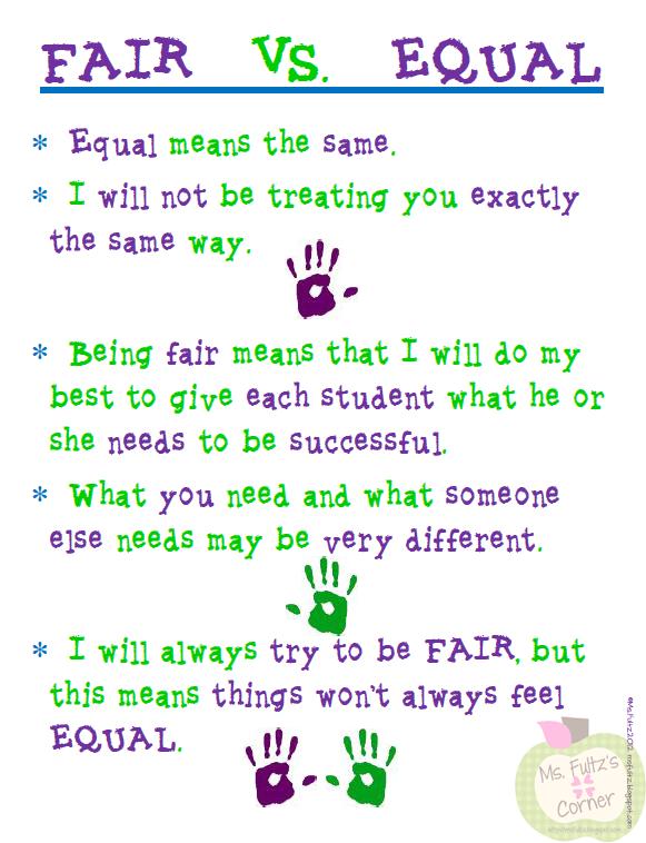 Fair vs. Equal
